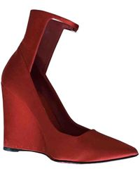 Burberry Cloth Heels - Red