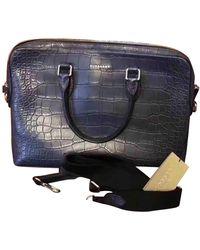 Burberry Krokodil Business Tasche - Blau