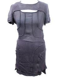 Isabel Marant - Grey Silk Dress - Lyst
