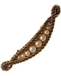 Loewe Pre-owned Vintage Gold Metal Hair Accessories - Metallic