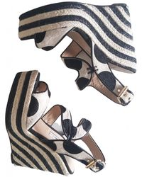Brian Atwood Pony-style Calfskin Sandals - Multicolor