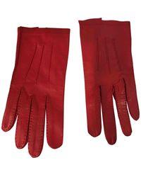 Chanel Leder Handschuhe - Rot