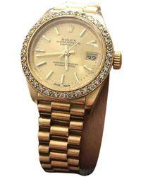 Rolex Lady DateJust 28mm Gelbgold Uhren - Mehrfarbig