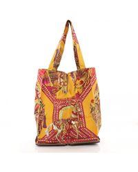 07ea2c63a6c9 Hermès Pre-owned Silky Pop Silk Handbag - Lyst
