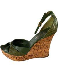 Dior Python Sandals - Green