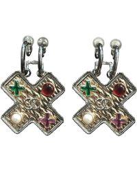 Chanel - Multicolour Metal Earrings - Lyst