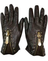 Michael Kors Leather Gloves - Brown