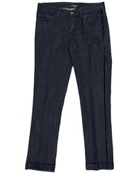 Chanel - Pre-owned Blue Cotton - Elasthane Jeans - Lyst