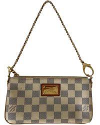 Louis Vuitton Milla Beige Cloth Handbag - Natural