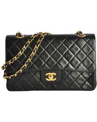 Chanel Timeless/Classique Leder Handtaschen - Schwarz