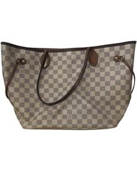 Louis Vuitton Borsa Neverfull in Tela - Neutro
