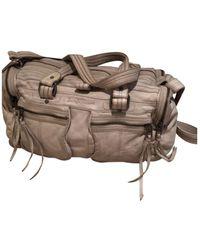Zadig & Voltaire Rock Ecru Leather Handbag - Multicolour