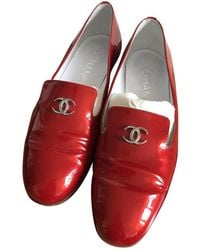 Chanel Patent Leather Flats - Red