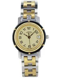 Hermès Reloj en acero dorado Clipper - Metálico