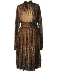 Ferragamo Silk Maxi Dress - Multicolor