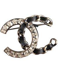 Chanel Broche en metal CC - Multicolor