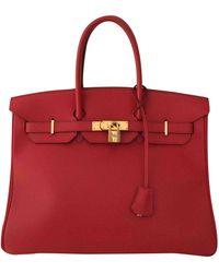 Hermès Birkin 35 Leder Handtaschen - Rot