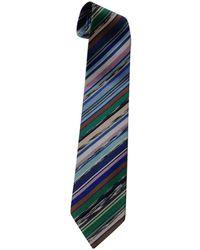 Missoni Cravates en Coton Multicolore - Bleu