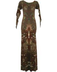 Jean Paul Gaultier Burgundy Viscose Dress - Multicolor