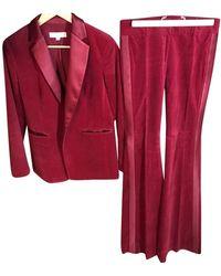Michael Kors Velvet Suit Jacket - Red