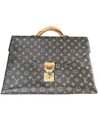 Louis Vuitton Leinen Business tasche - Braun