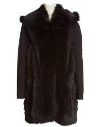 Givenchy Fox Coat - Black