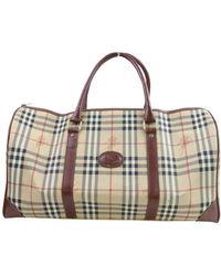 Burberry Brown Cloth Travel Bag