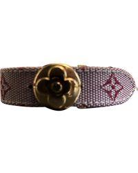 Louis Vuitton Monogram Burgundy Leather Bracelets - Multicolour