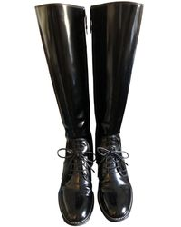 Louis Vuitton Lackleder Stiefel - Schwarz