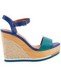Lanvin Blue Leather Sandals