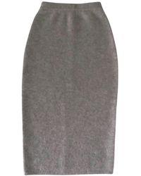 JOSEPH Cashmere Maxi Skirt - Grey