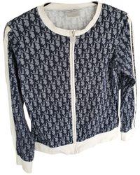 Dior Blue Cotton Knitwear