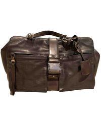 Loewe Leather Travel Bag - Black
