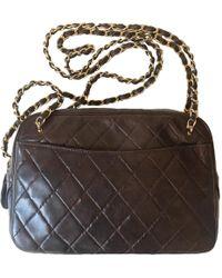 Lyst - Chanel Vintage Lambskin Bucket Bag Black in Metallic 21f09e8bb3e88