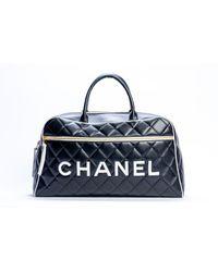 Chanel Valigie in pelle nero