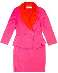 Balmain Silk Suit Jacket - Pink