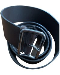 Jil Sander Brown Leather Belts - Blue