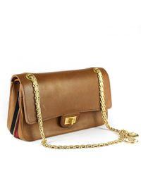 Chanel - 2.55 Brown Leather Handbag - Lyst