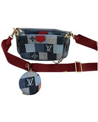 Louis Vuitton Multi Pochette Accessoires Cross Body Tashe - Blau