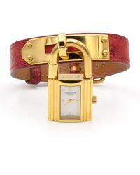 Hermès Montres Kelly en Plaqué or Doré - Multicolore