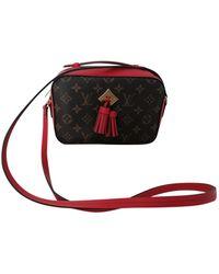 Louis Vuitton Bolsa de mano en lona marrón Saintonge