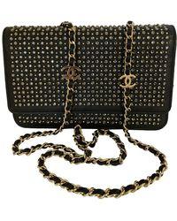Chanel Pochette en Cuir Noir