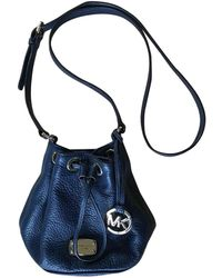 Michael Kors Jules Navy Leather Handbag - Blue