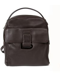 Delvaux Brown Leather Backpack