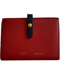Celine Leather Wallet - Red