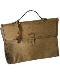 Lancel Beige Leather Handbag - Natural