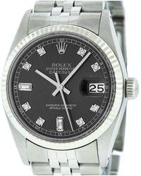 Rolex Datejust 36mm Uhren - Grau