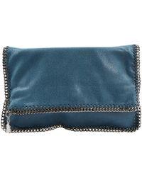 b2482b149280 Stella McCartney - Pre-owned Falabella Blue Polyester Clutch Bags - Lyst