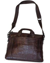 Burberry Leder Taschen - Braun