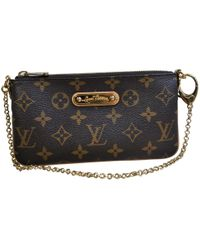 Louis Vuitton - Pre-owned Milla Leather Clutch Bag - Lyst